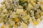 Barley groats salad