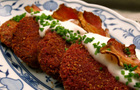 Red root cutlets, yoghurt sauce